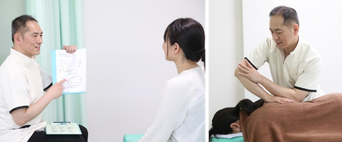大蔵カイロ川越伊勢原整体院の施術複合写真12