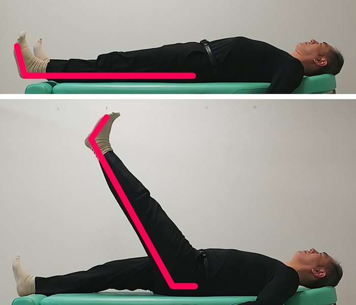 坐骨神経が伸ばされ痛みが出やすくなる状況